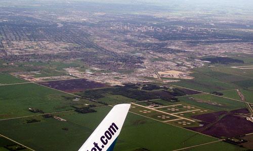 Flying Over Winnipeg