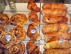 Croissants, Pains aux Raisins and Pains au Chocolat