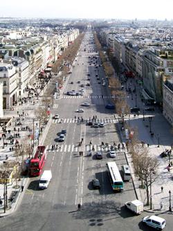Champs Élysées from The Arc de Triomphe