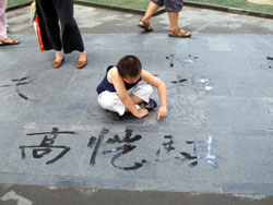 Admiring Calligraphy