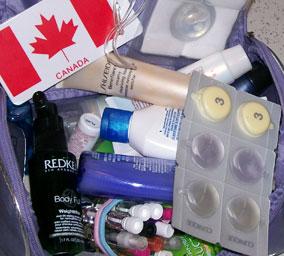 My sample bag - hey, I'm French!