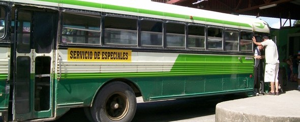 Chicken Bus In Quepos, Costa Rica