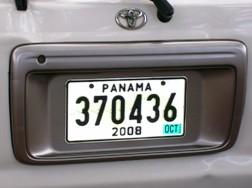 Panamá License Plate