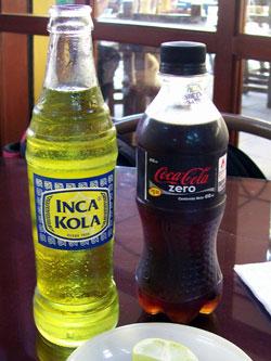 Inca Cola, Coke Zero, Lima Peru