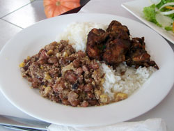 Tutu De Feijão, Rice And Chicken In Paraty, Brazil
