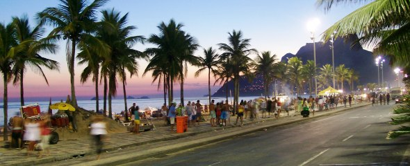 Ipanema Beach At Sunset