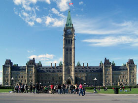 The Canadian Parliament In Ottawa
