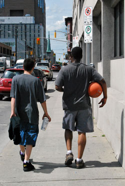 After A Game, On Elgin St.