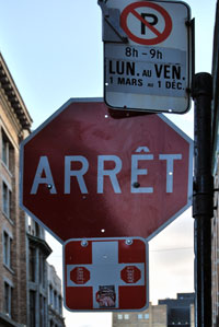 Stop Sign In Montreal