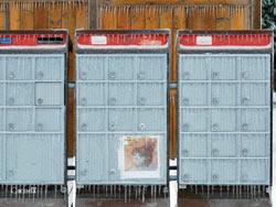 Frozen Mailboxes