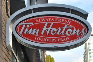 A Canadian Tim Hortons On Rideau