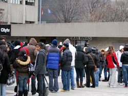 Queuing To Rent Skates