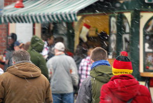 Queuing For Beaver Tails In The Snow