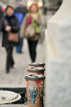 Tim Hortons Cups on Parliament Hill