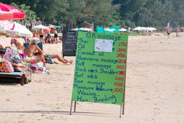 Massage on the Beach in Ko Lanta
