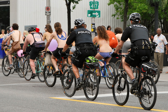 naked Cyclists Spotted on Rideau Street