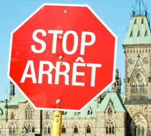 Bilingual Stop Sign, Ottawa