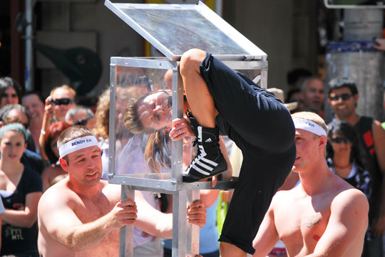 The Contortionist, Sparks Street, Ottawa, July 2011