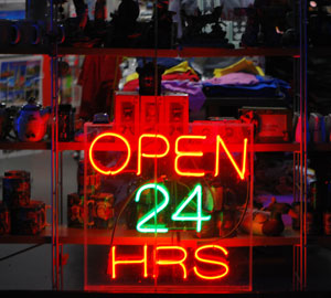Open 24 Hrs - It's always Time To Shop!