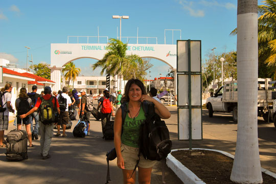 Arriving in Mexico, Chetumal