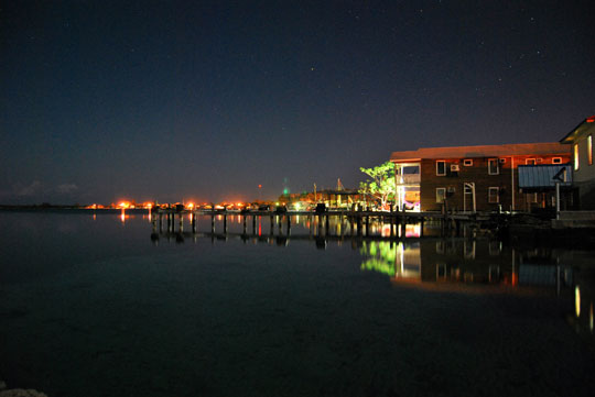Night at the Pier in Utila