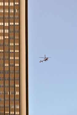 Cop Chopper Above The City