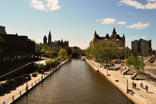 One of the most classic shots of Ottawa: The Canal and the Parliament, Ottawa, May 2012