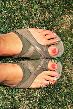 Freshly Painted Toes, Ottawa, June 2012