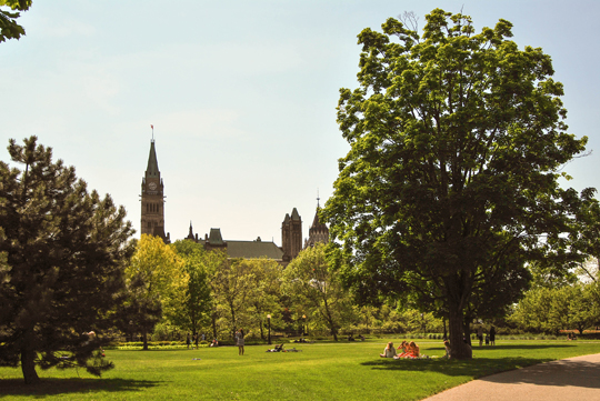 Parliament Hill from Majors Hill Park, Ottawa, May 2012
