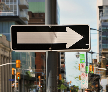 One Way on bank Street, Ottawa, June 2012