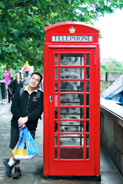 Feng and the Iconic Phone Booth