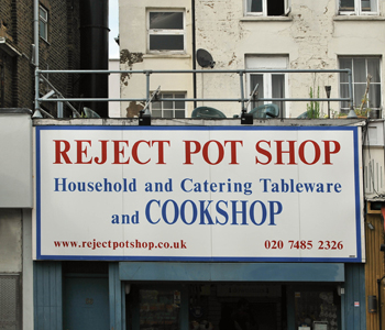 We are talking about cooking, right? Shop sign in Camden, London