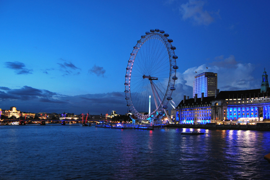 The London Eye and Jubilee Gardens