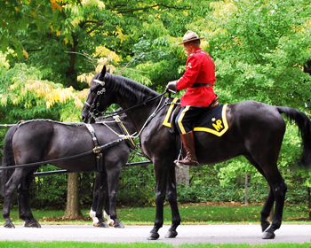 Canadian Mounties, Rideau Hall, October 2012