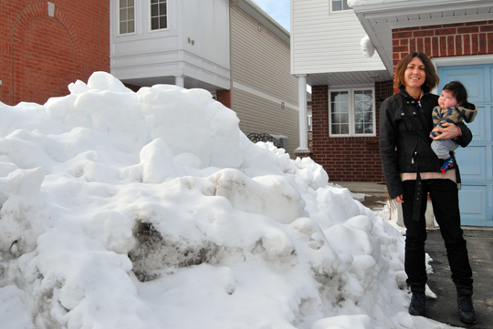 Massive Pile of Snow in Front of the House