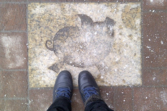The Boots and I in Chinatown, Ottawa, February 2013