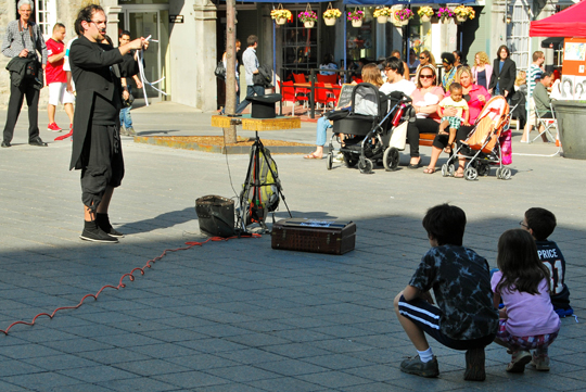 Street Performer in Old Montreal