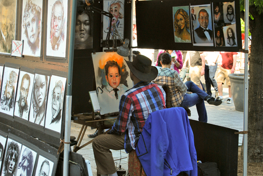 Caricaturist in Old Montreal