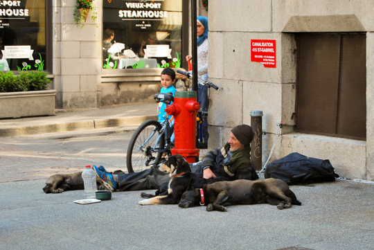 Homeless in Old Montreal