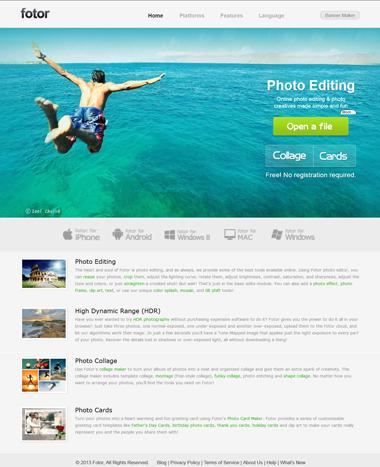 Fotor's Homepage