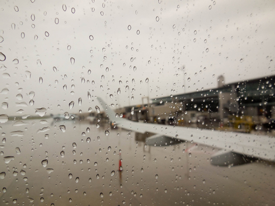 Rainy Takeoff