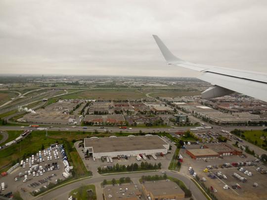 Landing in YYZ