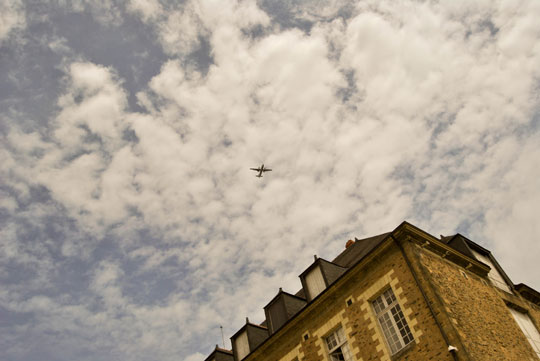 Plane Over the Castle