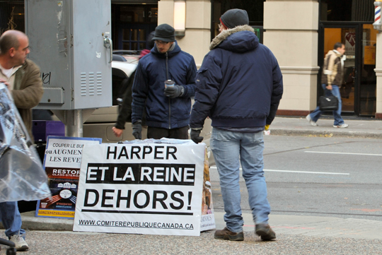 Against Harper and the Queen