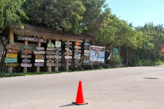 Junction of Tulum Pueblo y Playa