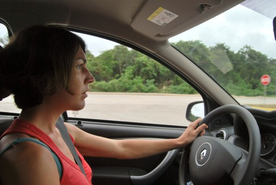 Driving to Tulum