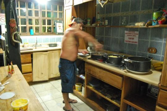 Antonio the Chef Cooking Pasta