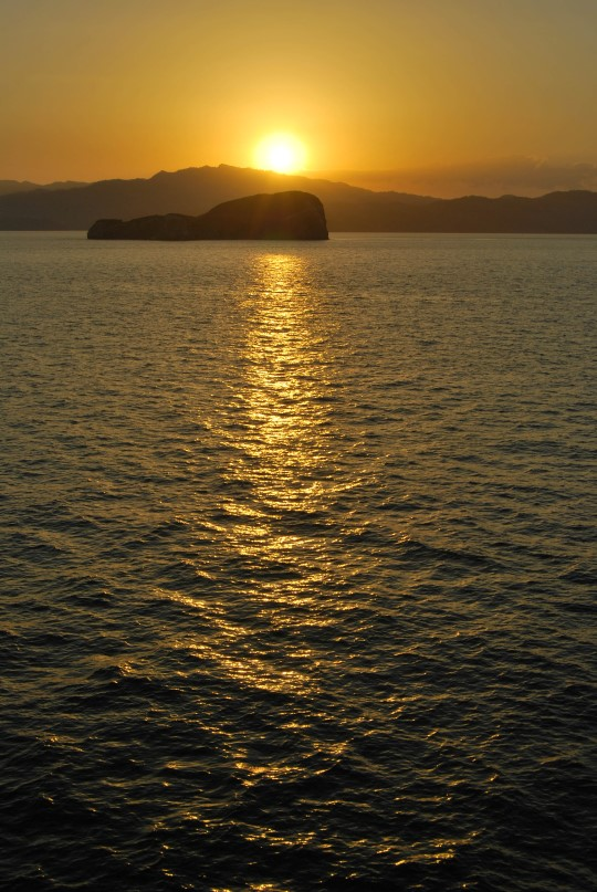 Sunset in the Ferry