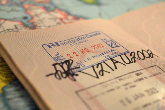 My very first entry stamp on my old French passport