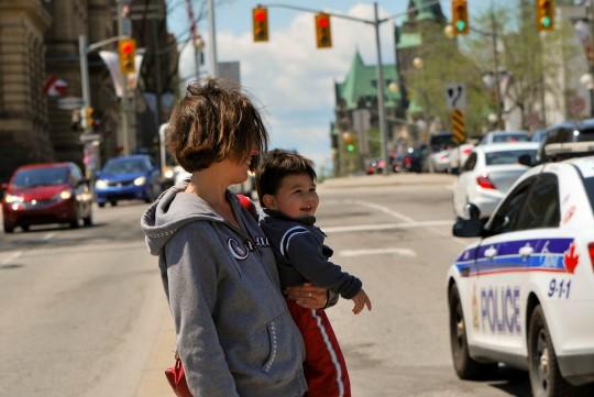 Jaywalking (Ahem, in Front of a Police Car...)